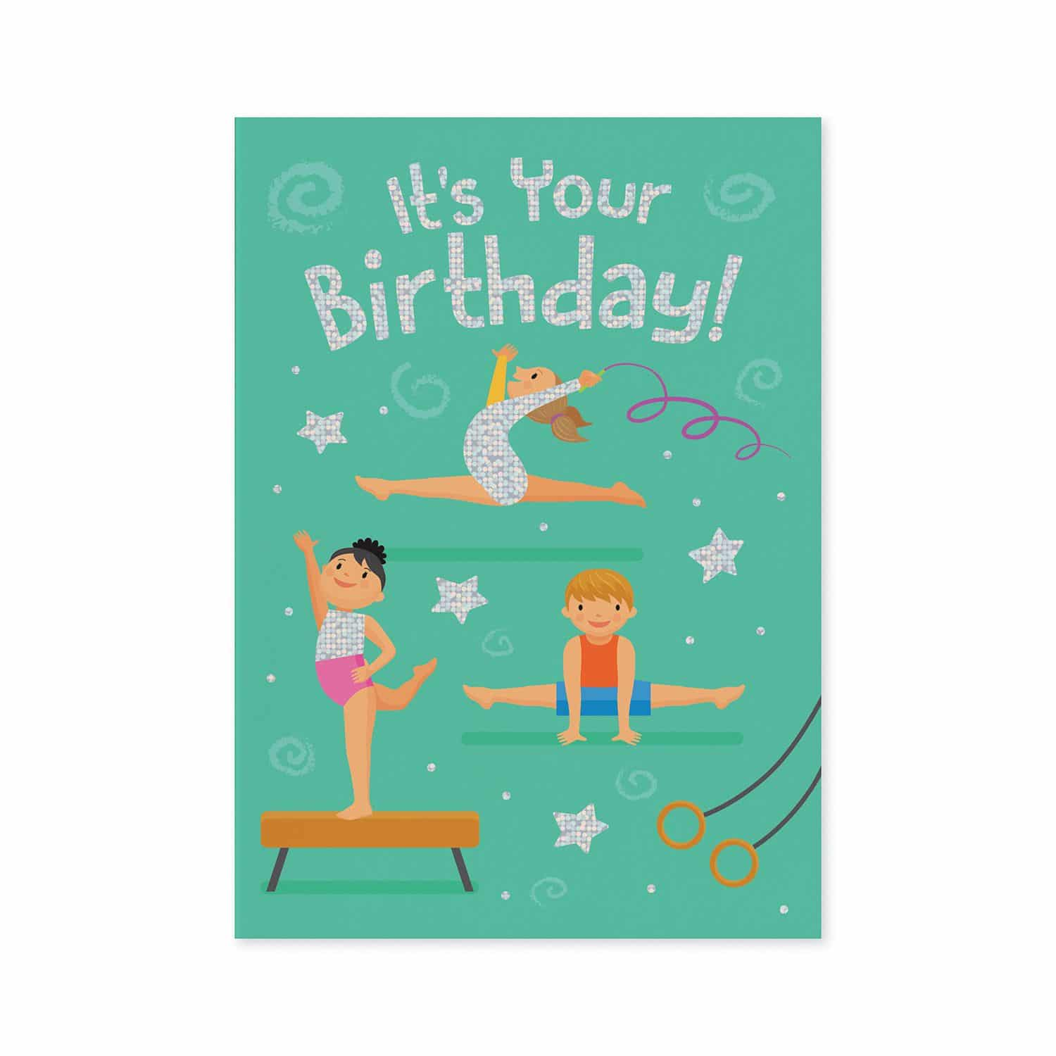 Gymnastics Birthday Card   A30Z Science & Learning Toy Store